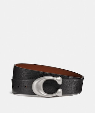 SIGNATURE BUCKLE REVERSIBLE BELT, 38MM