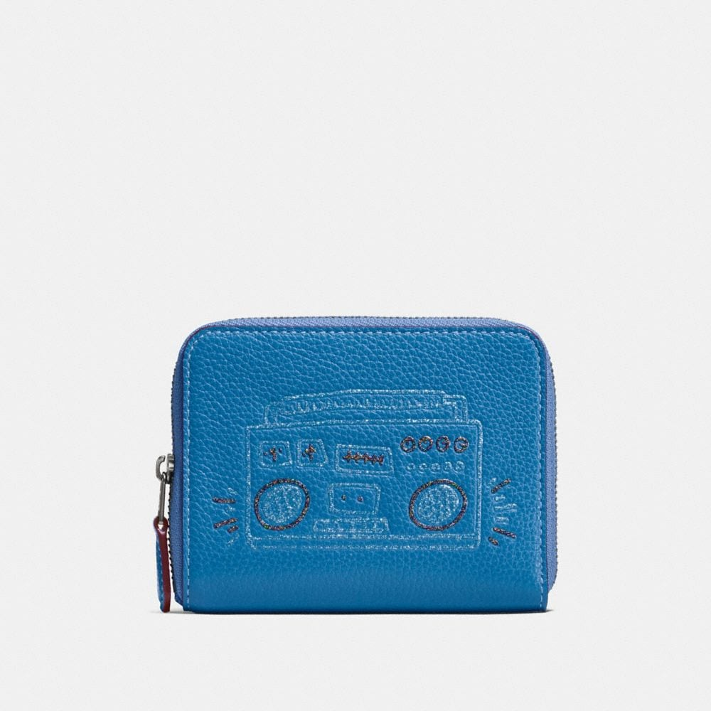 COACH X KEITH HARING SMALL ZIP AROUND WALLET