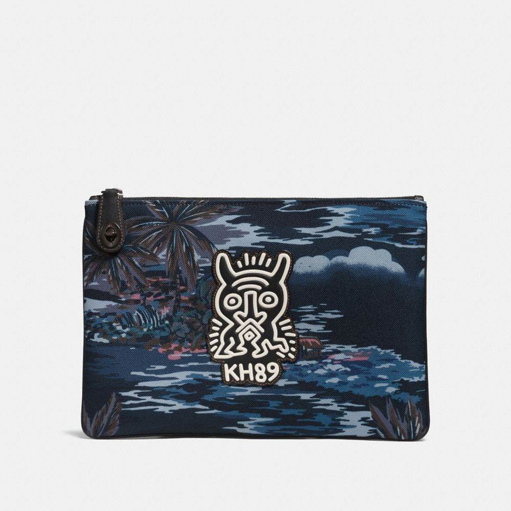 COACH X KEITH HARING POUCH IN CORDURA® FABRIC