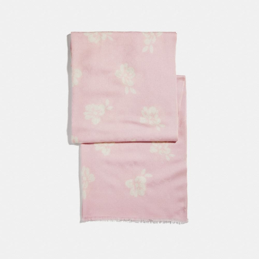 FLORAL BOW PRINT SIGNATURE STOLE