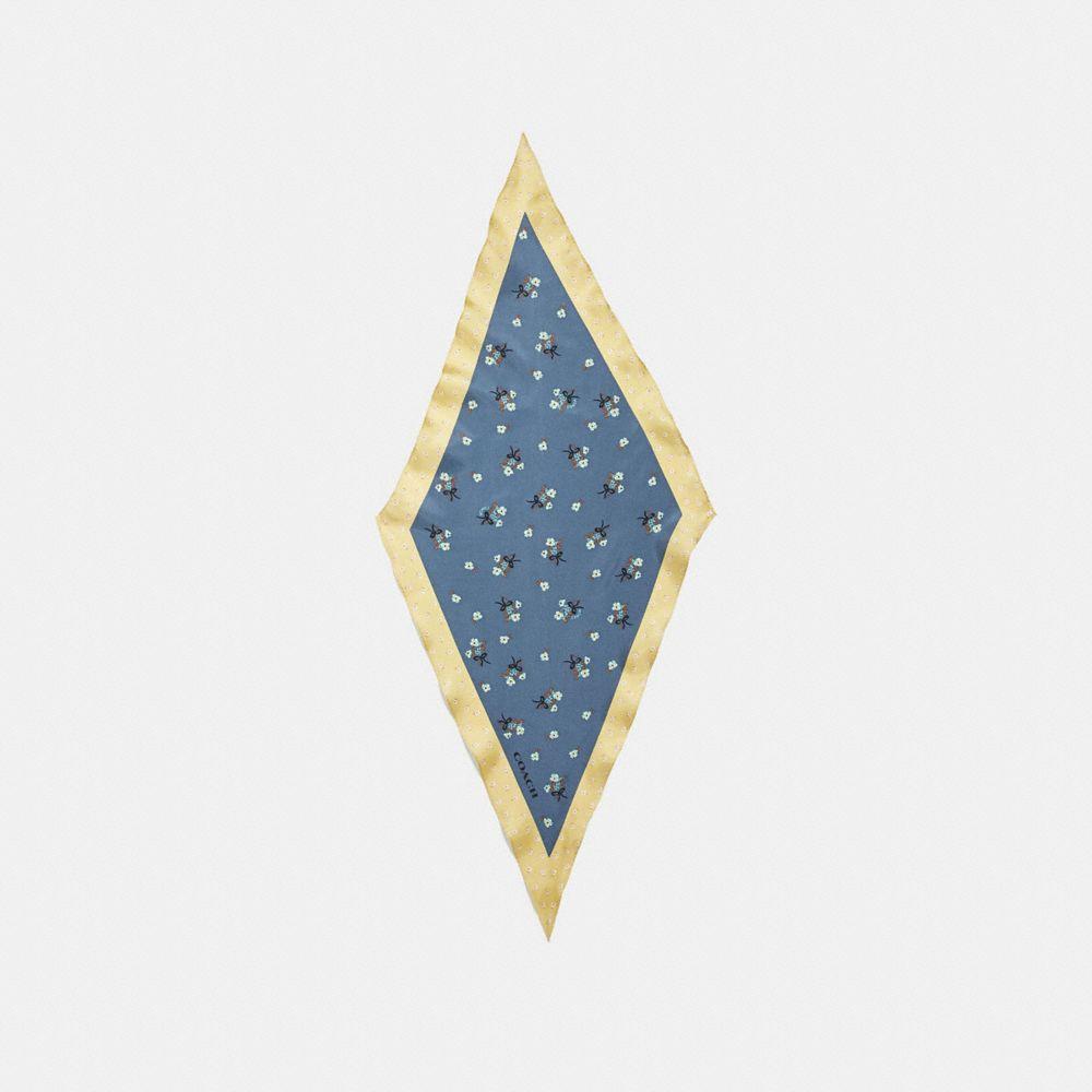 FLORAL BOW PRINT SILK DIAMOND