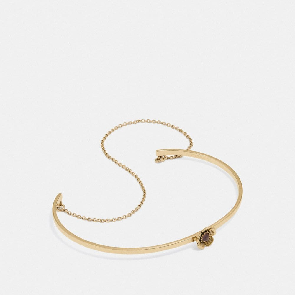 DEMI-FINE TEA ROSE CHAIN CUFF