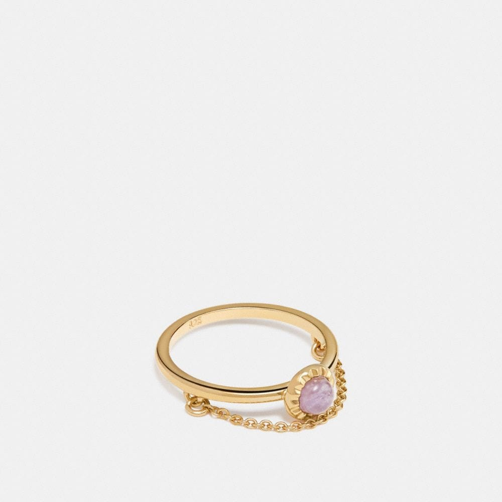 DEMI-FINE SUNBURST CHAIN RING