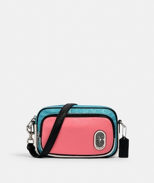 COURT CROSSBODY IN COLORBLOCK SIGNATURE NYLON WITH COACH PATCH