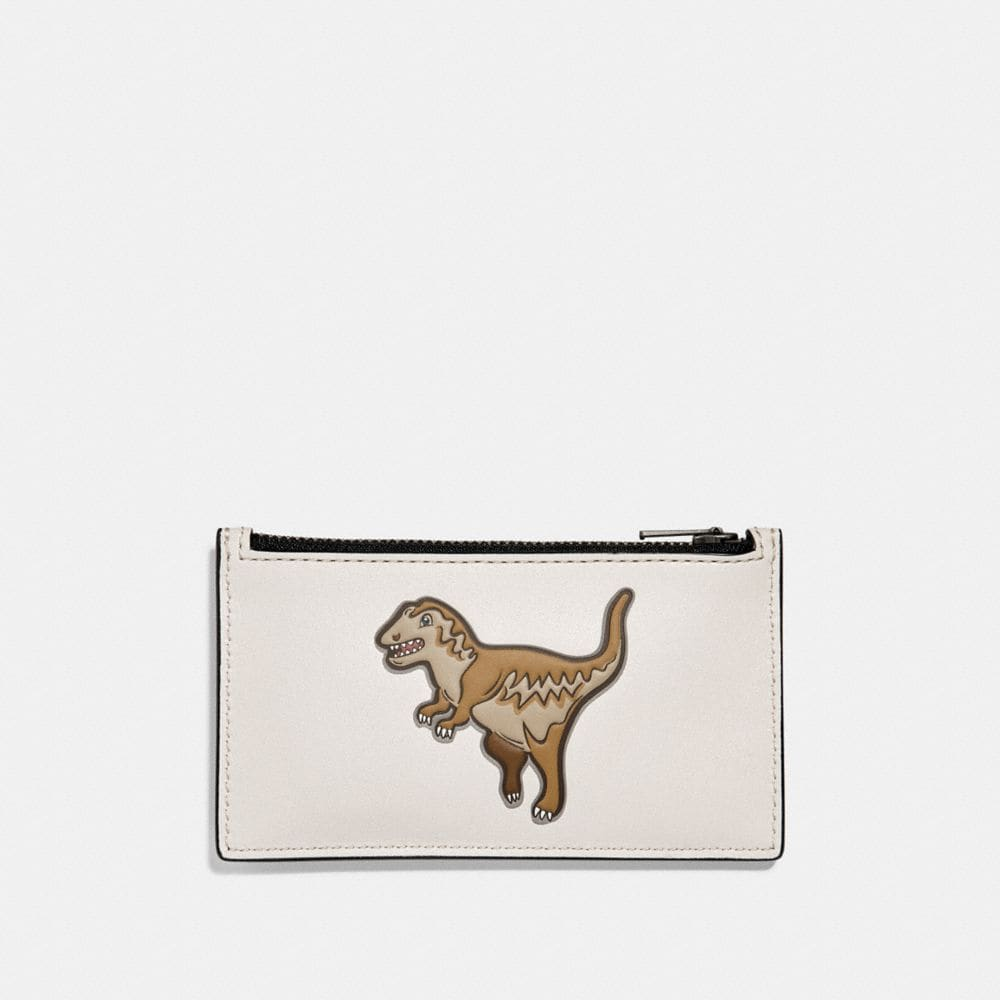 ZIP CARD CASE WITH MASCOT