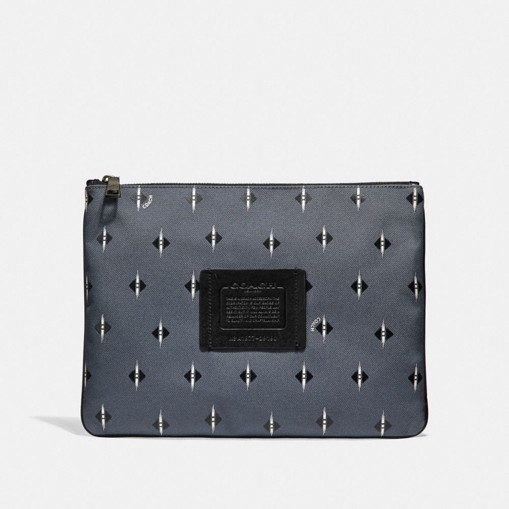 LARGE MULTIFUNCTIONAL POUCH IN CORDURA® FABRIC WITH IKAT GEO PRINT