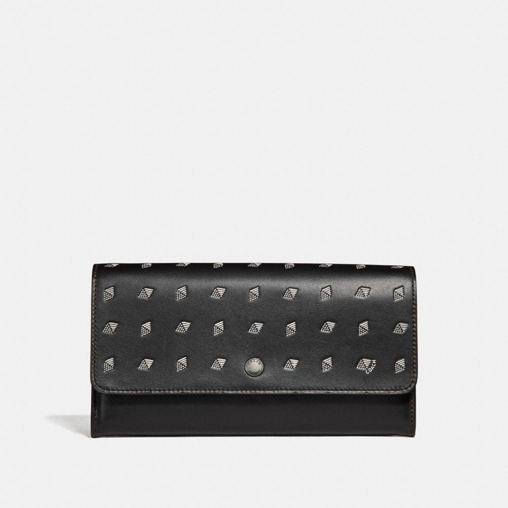 MULTIFUNCTIONAL WALLET WITH DOT DIAMOND PRINT