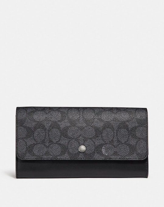 MULTIFUNCTIONAL WALLET IN SIGNATURE CANVAS