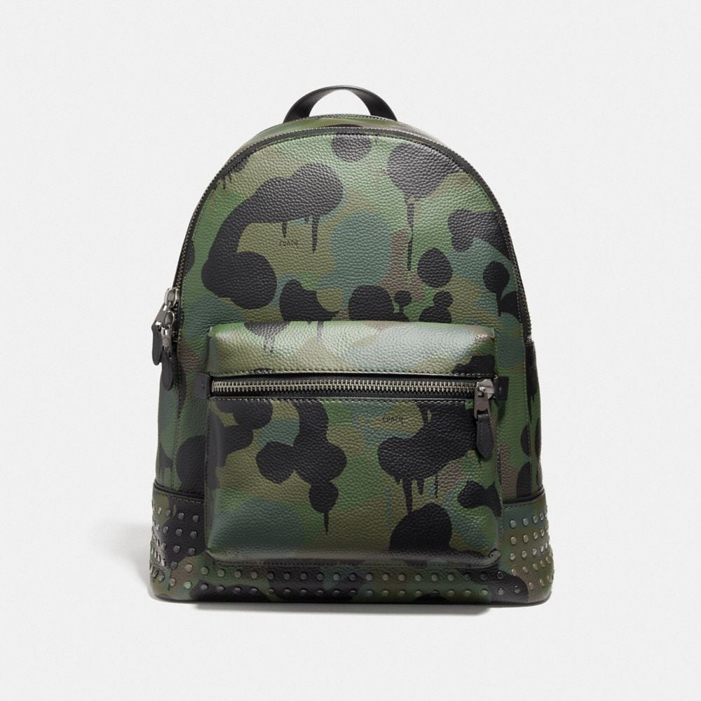 LEAGUE BACKPACK WITH WILD BEAST PRINT AND STUDS