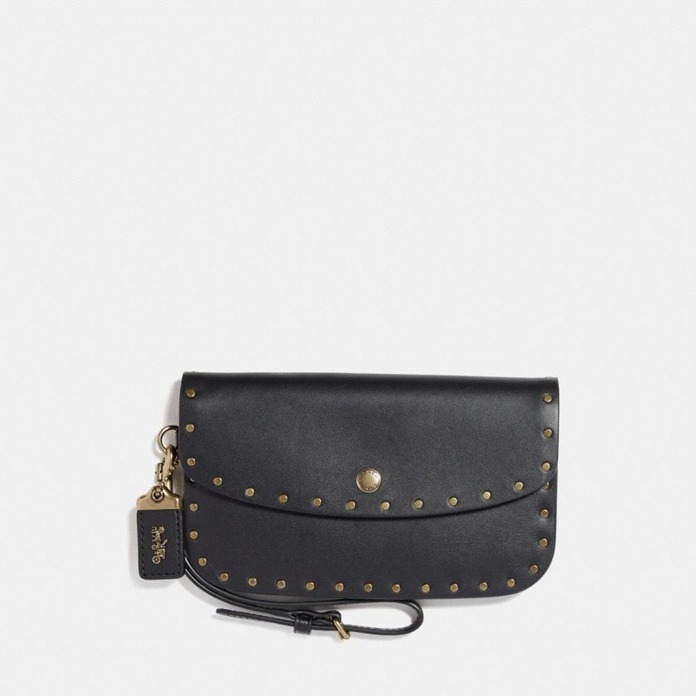 CLUTCH WITH BORDER RIVETS