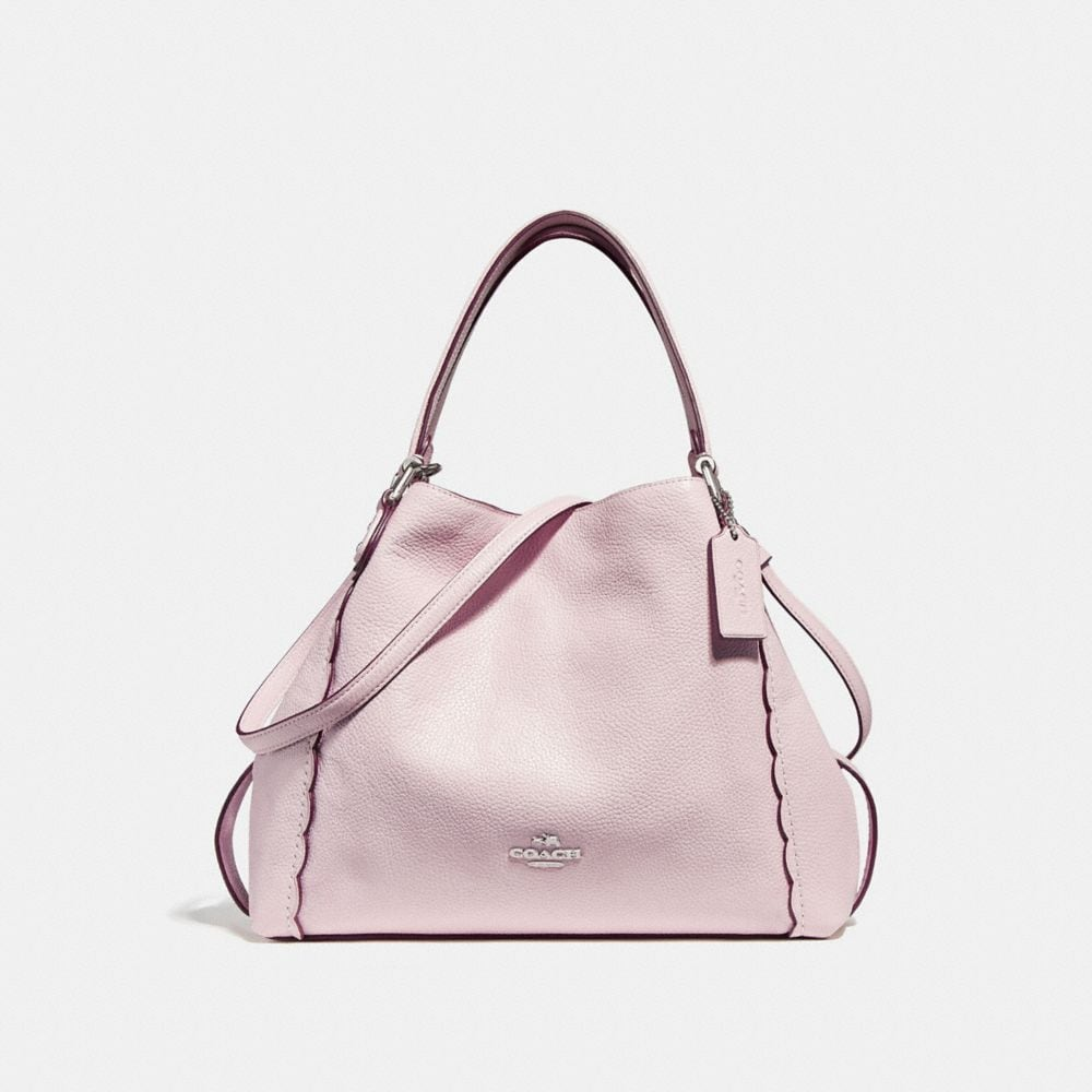 EDIE SHOULDER BAG 28 WITH SCALLOPED DETAIL