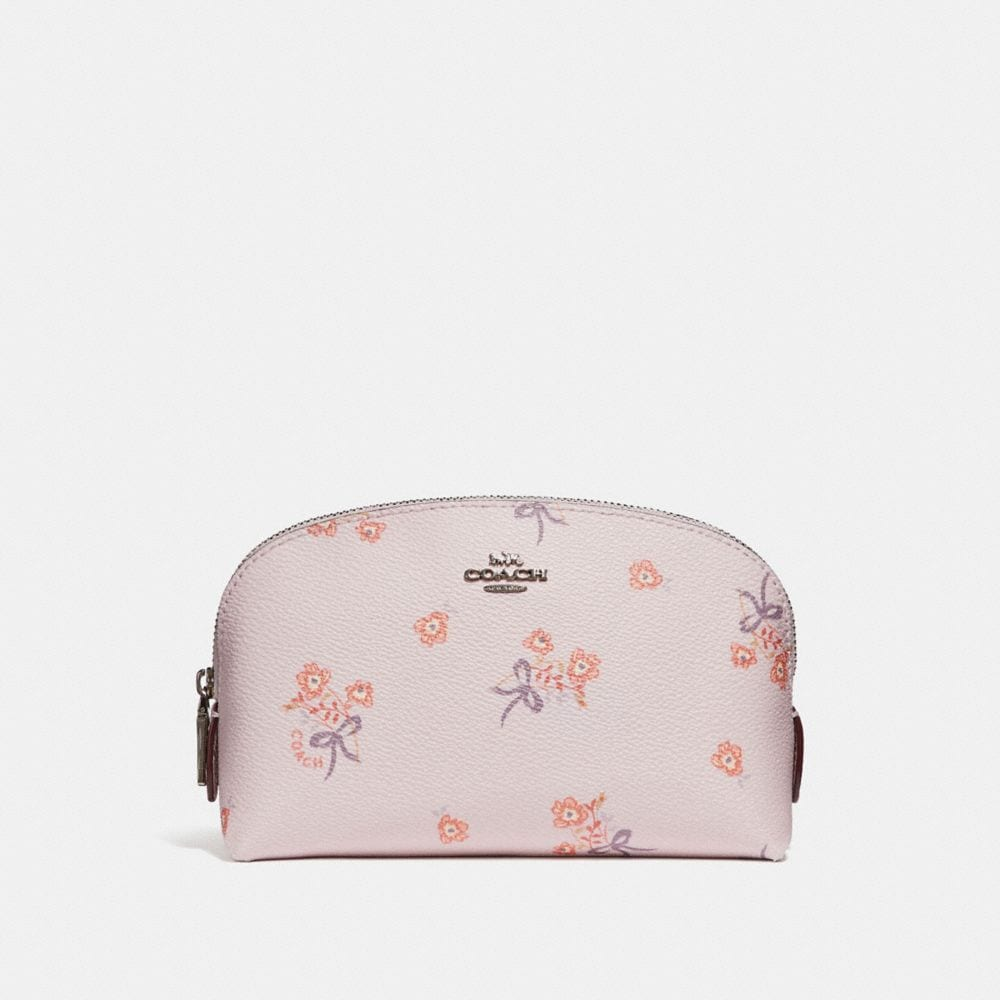 COSMETIC CASE 17 WITH FLORAL BOW PRINT