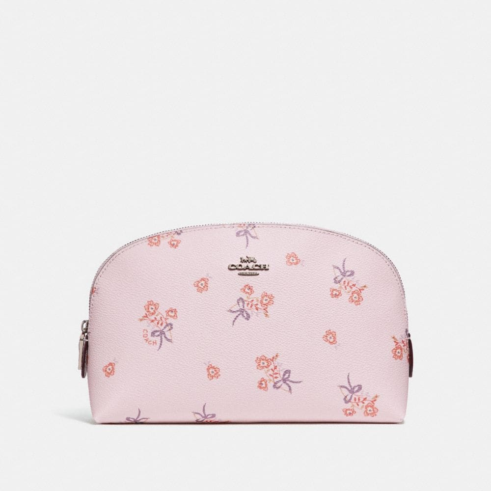 COSMETIC CASE 22 WITH FLORAL BOW PRINT