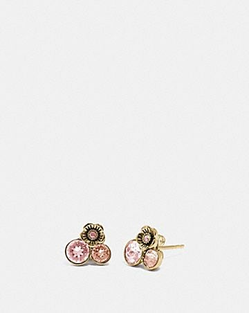 TEA ROSE CLUSTER STUD EARRINGS