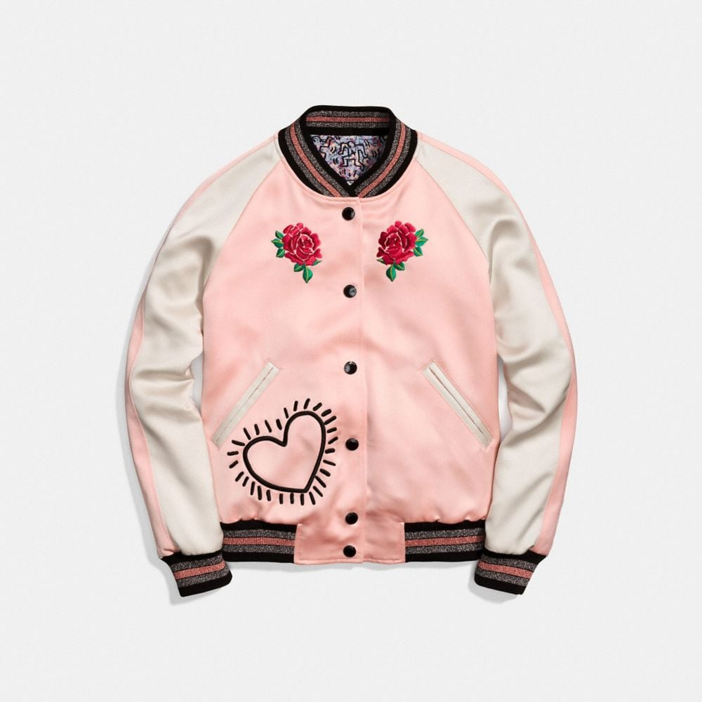 VESTE RÉVERSIBLE EN SATIN COACH X KEITH HARING