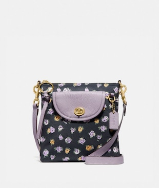 CARGO CROSSBODY WITH VINTAGE ROSE PRINT