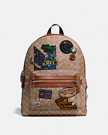 ec65482ad515 COACH X KEITH HARING ACADEMY BACKPACK IN SIGNATURE PATCHWORK