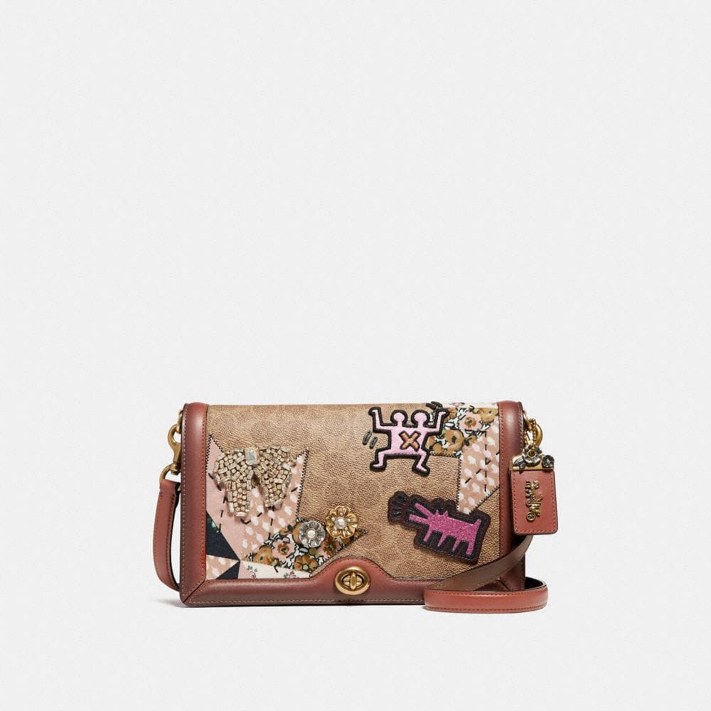 SAC POUR APPAREIL PHOTO EN PATCHWORK EXCLUSIF COACH X KEITH HARING