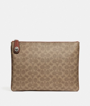 POUCH IN SIGNATURE CANVAS