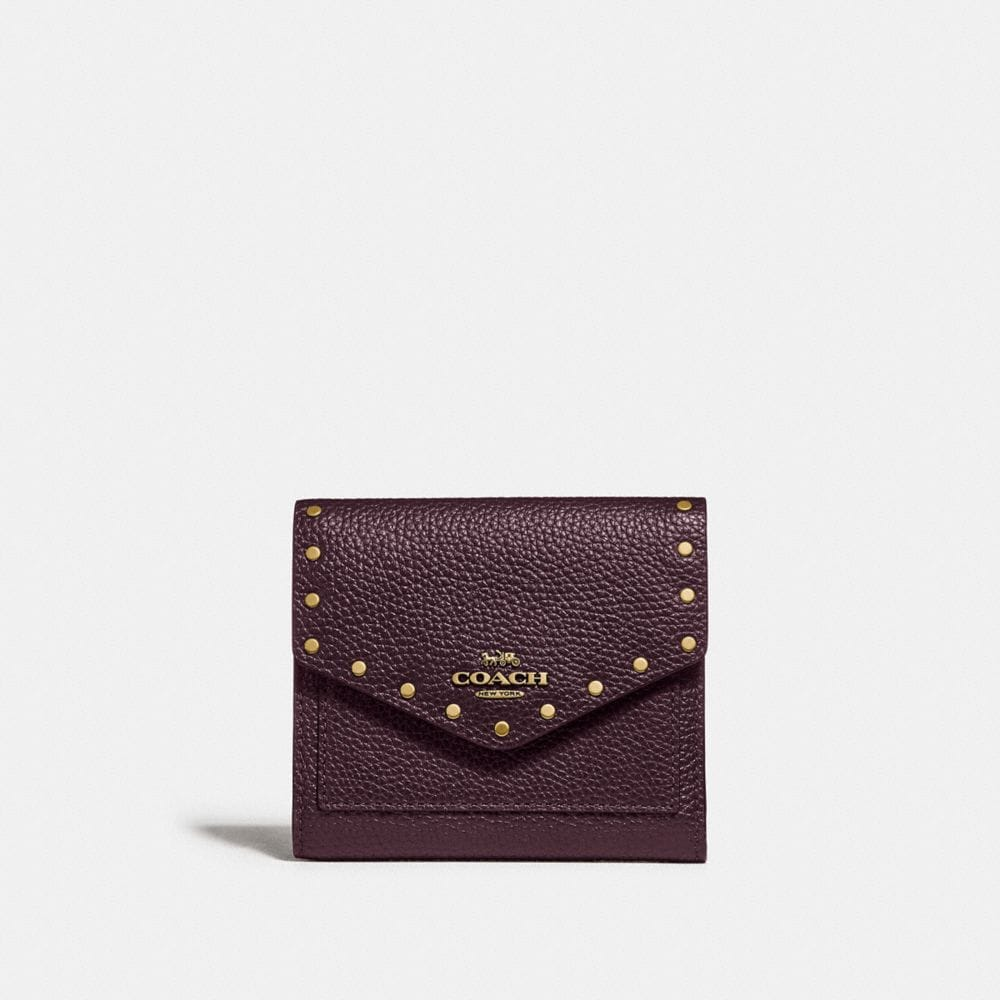 SMALL WALLET WITH RIVETS