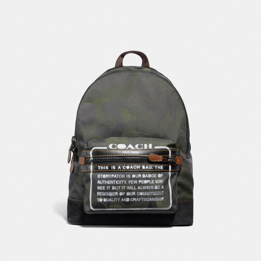 ACADEMY BACKPACK IN CORDURA® FABRIC WITH WILD BEAST PRINT AND STORYPATCH
