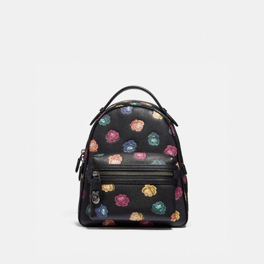 CAMPUS BACKPACK 23 WITH RAINBOW ROSE PRINT