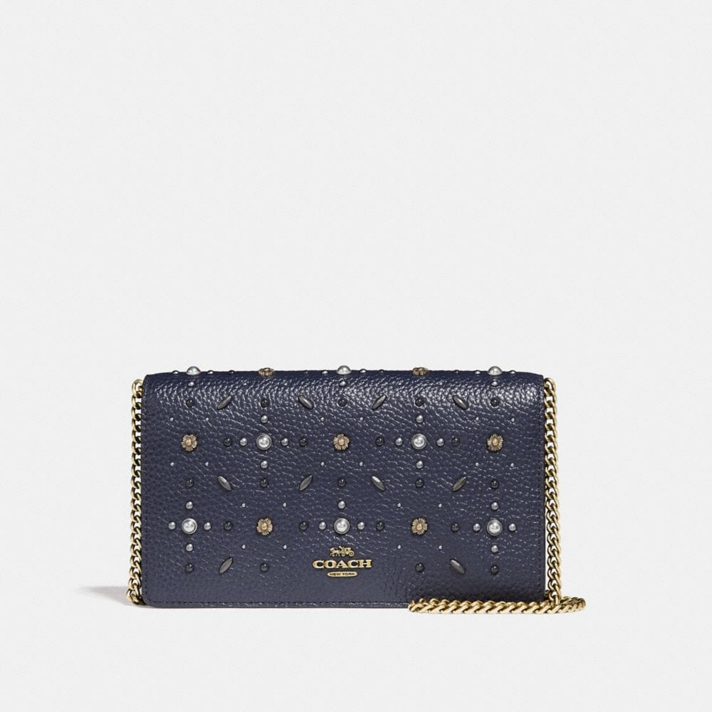 CALLIE FOLDOVER CHAIN CLUTCH WITH PRAIRIE RIVETS