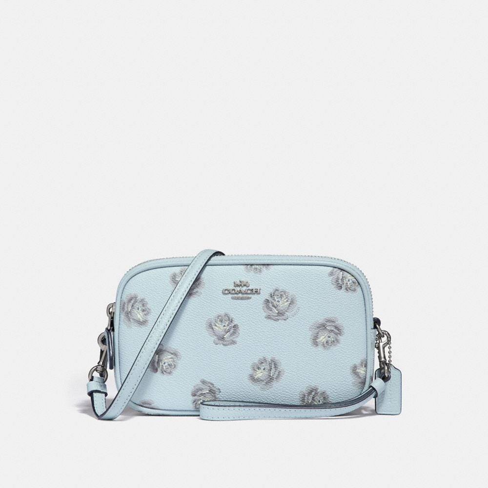 CROSSBODY CLUTCH WITH ROSE PRINT