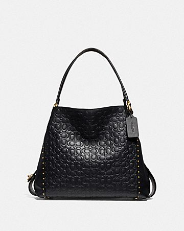 EDIE SHOULDER BAG 31 IN SIGNATURE LEATHER WITH RIVETS ... 80ca6d878995d