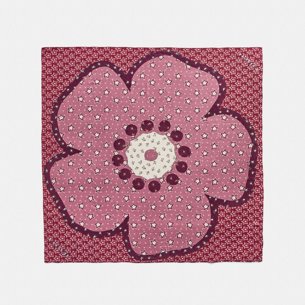 TEA ROSE VINTAGE STARS PATCHWORK OVERSIZED SQUARE