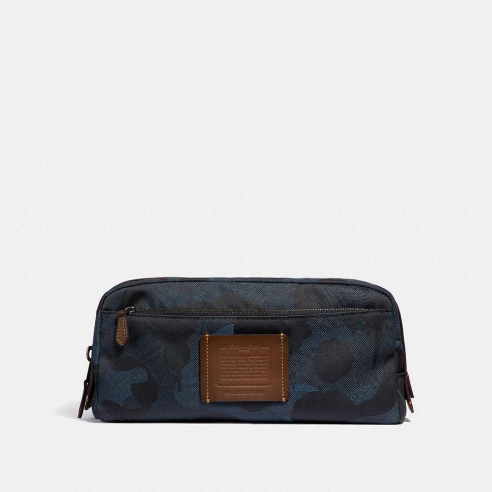 DOUBLE ZIP DOPP KIT WITH WILD BEAST PRINT