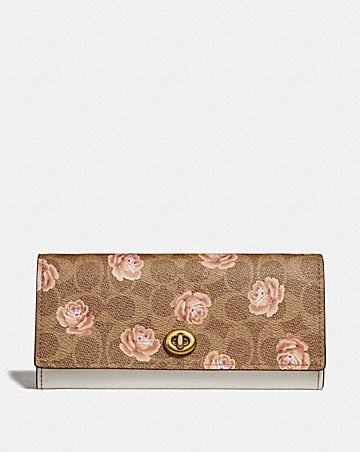 ENVELOPE WALLET IN SIGNATURE ROSE PRINT