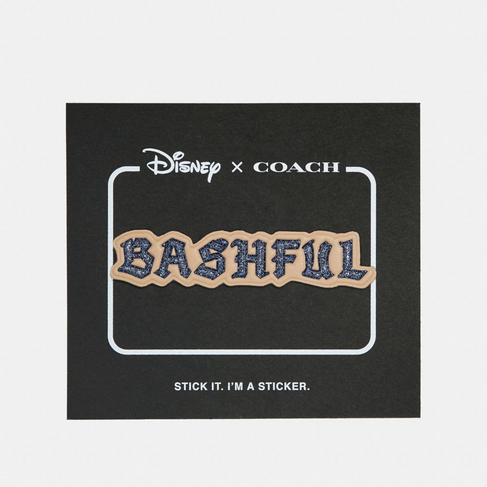 DISNEY X COACH BASHFUL STICKER