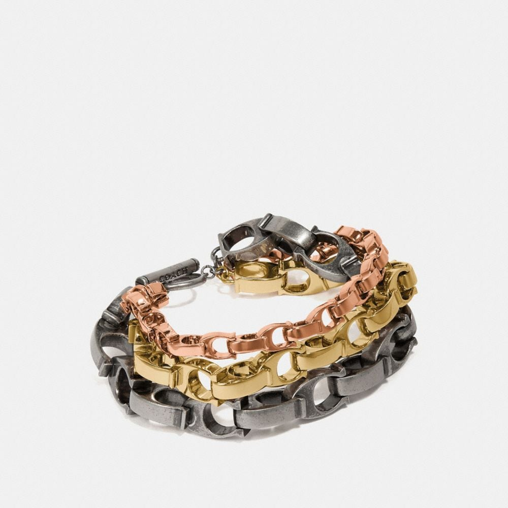 SIGNATURE CHAIN LAYERED BRACELET