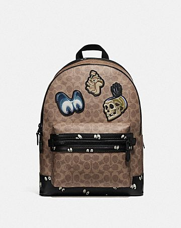 50660d13b63b disney x coach academy backpack in signature.