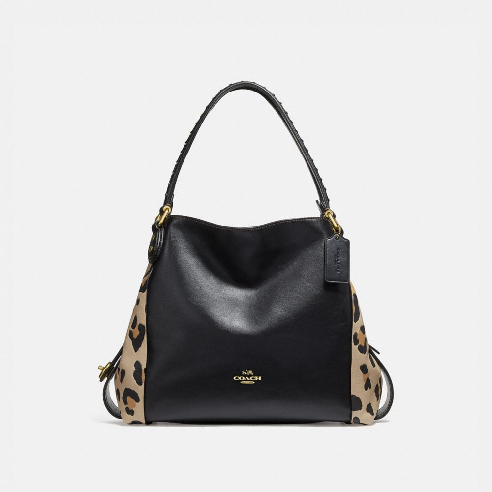 EDIE SHOULDER BAG 31 WITH EMBELLISHED LEOPARD PRINT