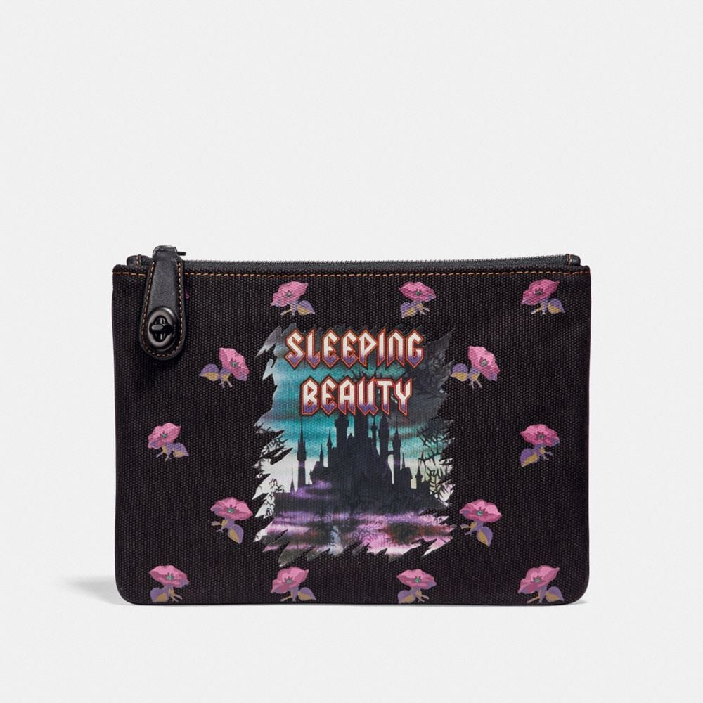 DISNEY X COACH SLEEPING BEAUTY TURNLOCK POUCH 26