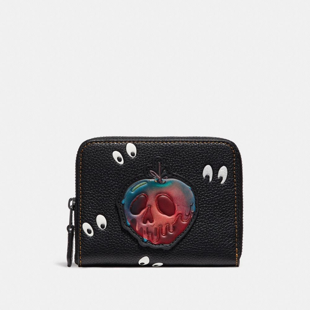 DISNEY X COACH SMALL ZIP AROUND WALLET WITH SPOOKY EYES PRINT