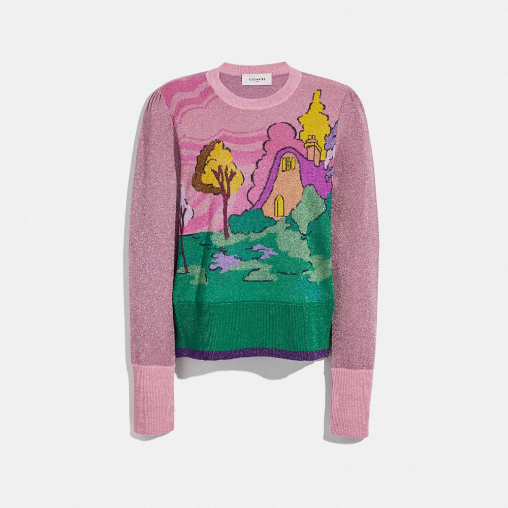 SPOOKY COTTAGE CREW NECK SWEATER