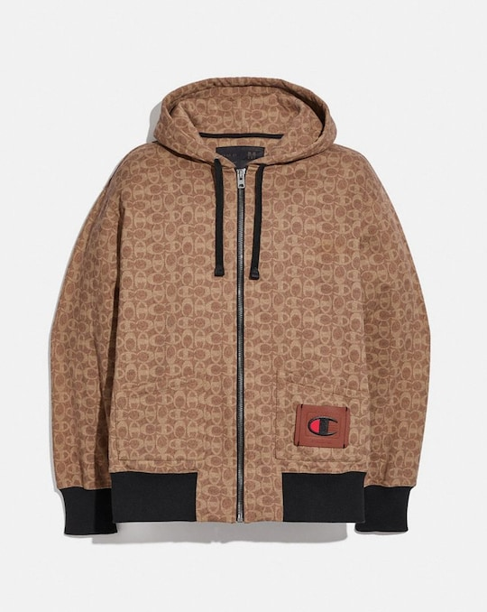 COACH X CHAMPION MEN'S FULL ZIP HOODIE