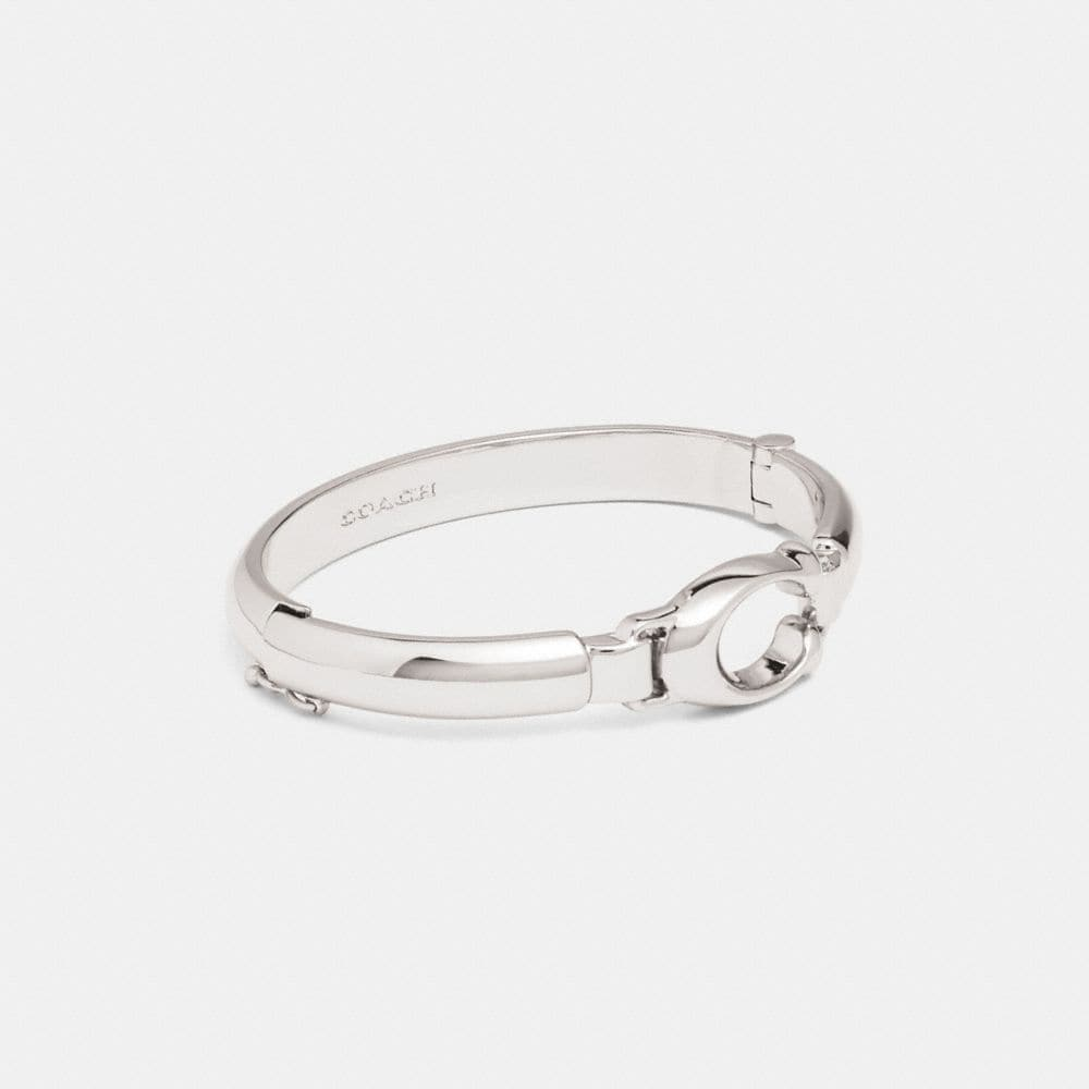 SCULPTED SIGNATURE PLAQUE BANGLE