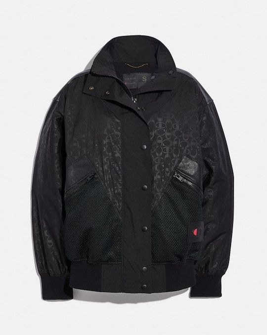 COACH X CHAMPION OVERSIZE-WINDJACKE AUS NYLON