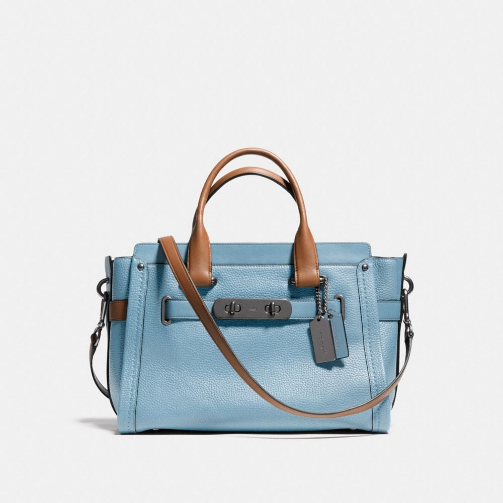 COACH SWAGGER CARRYALL IN COLORBLOCK LEATHER