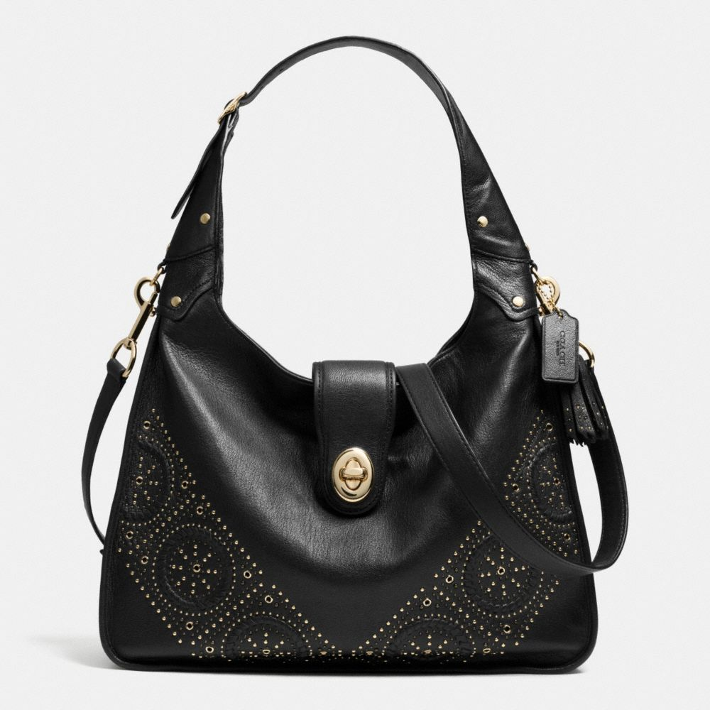 MINI STUDS RHYDER HOBO IN LEATHER