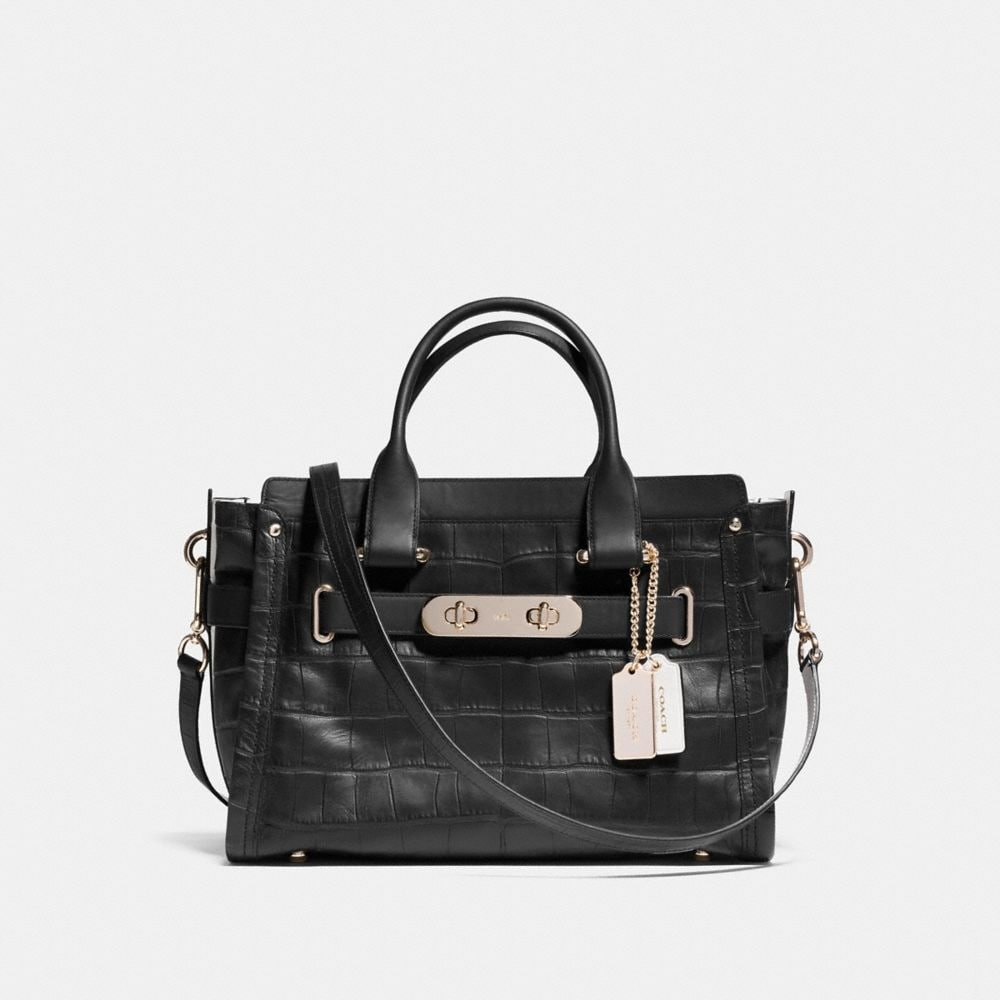 COACH SWAGGER CARRYALL IN CROC EMBOSSED LEATHER