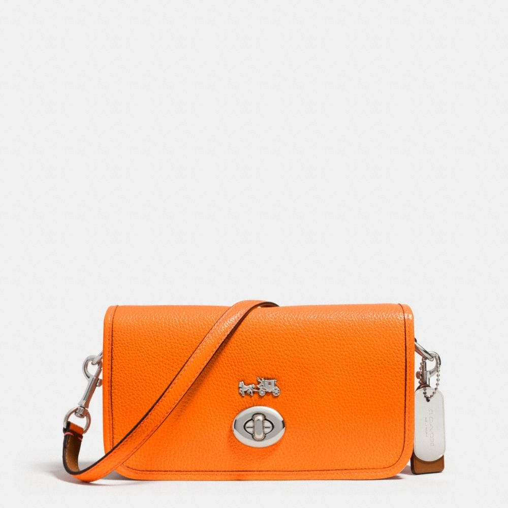 C.O.A.C.H. PENNY CROSSBODY IN POLISHED PEBBLE LEATHER