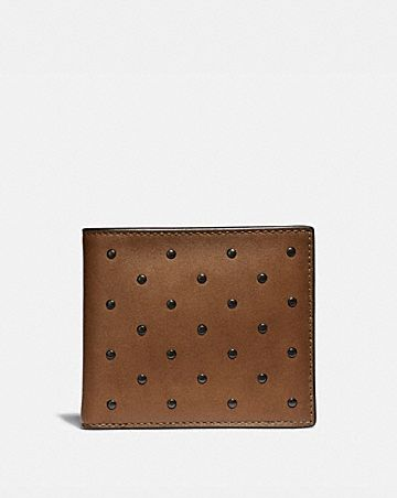DOUBLE BILLFOLD WALLET WITH RIVETS