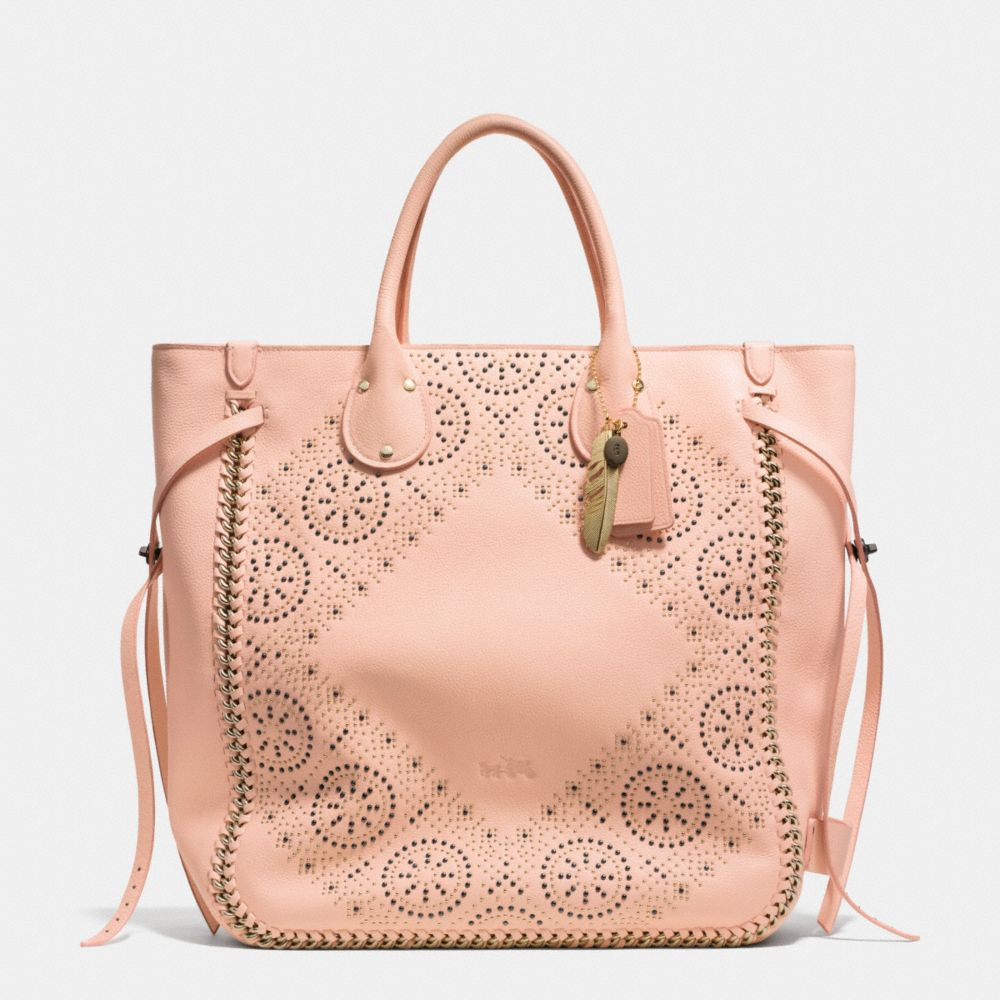 TATUM STUDDED TALL TOTE IN WHIPLASH LEATHER