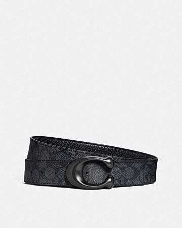 SCULPTED SIGNATURE CUT-TO-SIZE REVERSIBLE BELT