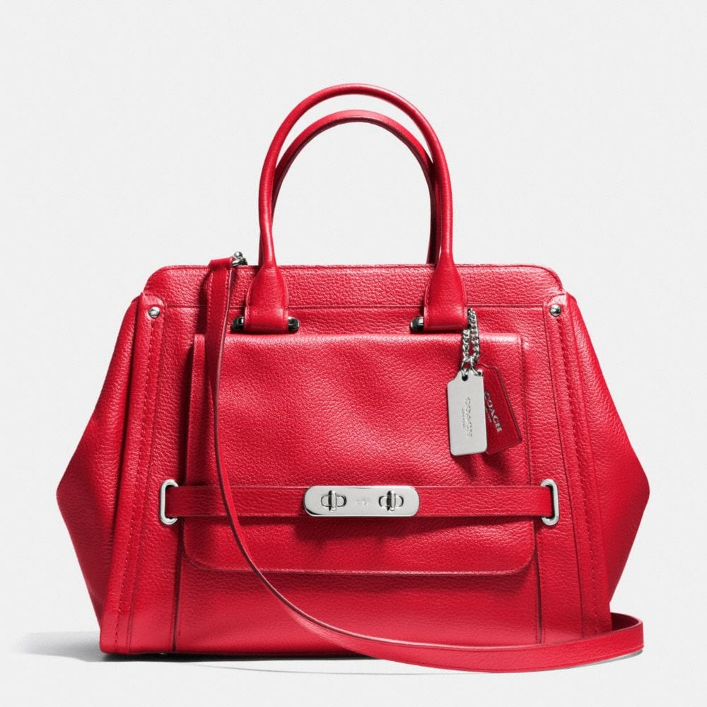 COACH SWAGGER FRAME SATCHEL IN LEATHER